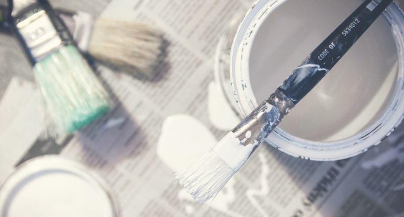 Acryl Pouring Farbe mit Flüssigkleber mischen