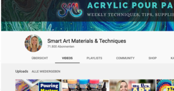 Namhafte-Youtuber-in-der-Pouring-Smart-Art-Materials-Techniques